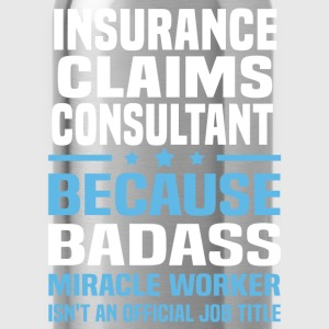Insurance Claims Consultant Tshirt - Water Bottle