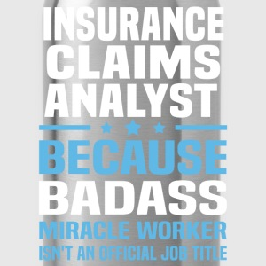 Insurance Claims Analyst Tshirt - Water Bottle