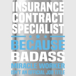 Insurance Contract Specialist Tshirt - Water Bottle