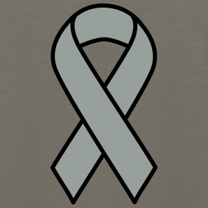 Grey Brain Cancer Ribbon - Men's Premium Long Sleeve T-Shirt