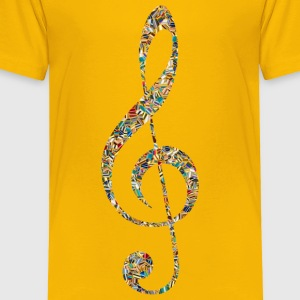 Psychedelic Tiled Clef - Toddler Premium T-Shirt
