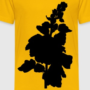 Hollyhock (silhouette) - Toddler Premium T-Shirt