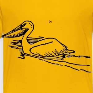 Pelican swimming - Toddler Premium T-Shirt