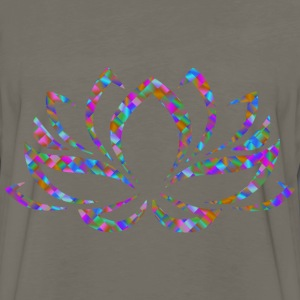 Prismatic Lotus Flower 5 - Men's Premium Long Sleeve T-Shirt