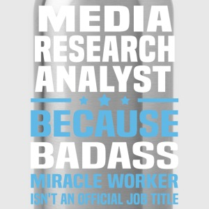 Media Research Analyst Tshirt - Water Bottle