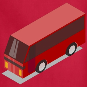 3D Isometric Red Bus - Adjustable Apron