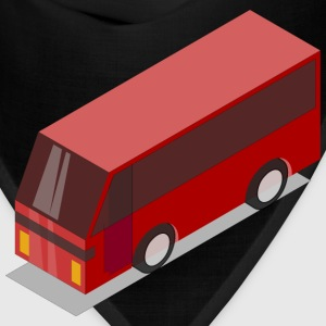 3D Isometric Red Bus - Bandana