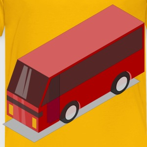 3D Isometric Red Bus - Toddler Premium T-Shirt