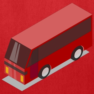 3D Isometric Red Bus - Tote Bag