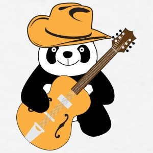 Funny panda with guitar Accessories - Men's T-Shirt