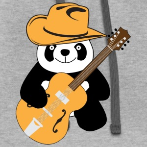 Funny panda with guitar Tanks - Contrast Hoodie