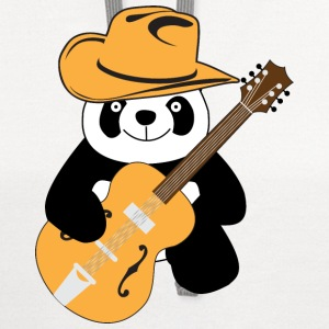 Funny panda with guitar T-Shirts - Contrast Hoodie