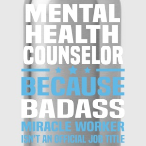 Mental Health Counselor Tshirt - Water Bottle