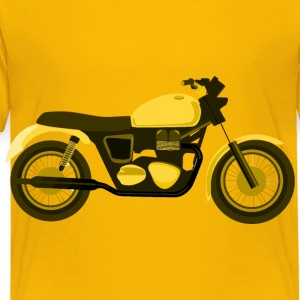 Yellow Motorcycle - Toddler Premium T-Shirt