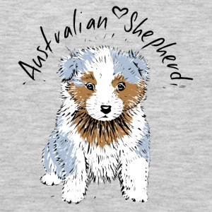 Australian Shepherd Puppy T-Shirts - Men's Premium Long Sleeve T-Shirt