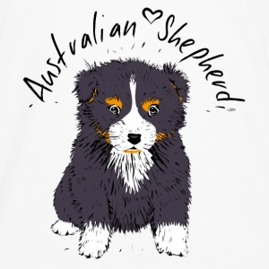 black tri Australian Shepherd Puppy Baby & Toddler Shirts - Men's Premium Long Sleeve T-Shirt