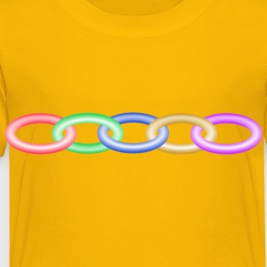 Muticoloured chain - Toddler Premium T-Shirt
