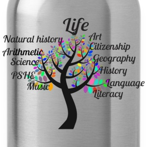 Education Tree Typography - Water Bottle