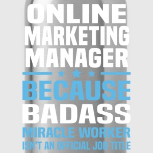 Online Marketing Manager Tshirt - Water Bottle