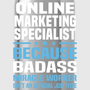 Online Marketing Specialist Tshirt - Water Bottle