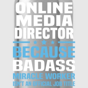 Online Media Director Tshirt - Water Bottle