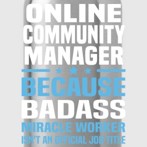 Online Community Manager Tshirt - Water Bottle
