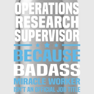 Operations Research Supervisor Tshirt - Water Bottle