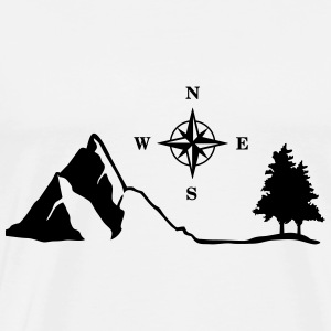 Nature, Mountain, Compass Hoodies - Men's Premium T-Shirt