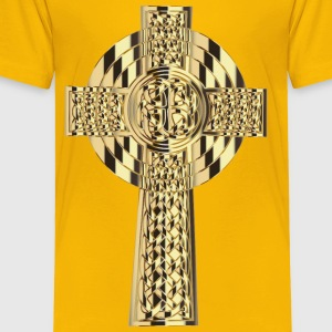 Golden Celtic Cross 4 - Toddler Premium T-Shirt