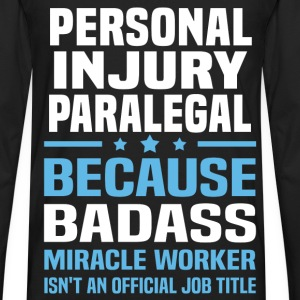 Personal Injury Paralegal Tshirt - Men's Premium Long Sleeve T-Shirt
