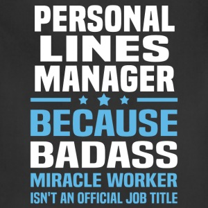 Personal Lines Manager Tshirt - Adjustable Apron
