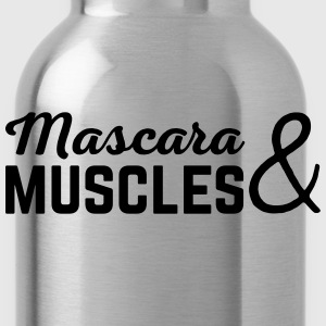 Mascara & Muscles Gym Quote  Tanks - Water Bottle