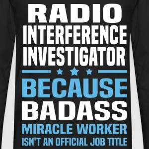 Radio Interference Investigator Tshirt - Men's Premium Long Sleeve T-Shirt