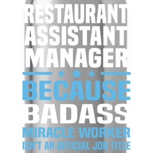 Restaurant Assistant Manager Tshirt - Water Bottle