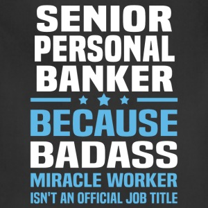 Senior Personal Banker Tshirt - Adjustable Apron