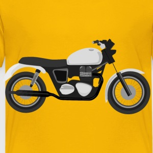 Grayscale Motorcycle - Toddler Premium T-Shirt
