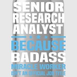 Senior Research Analyst Tshirt - Water Bottle
