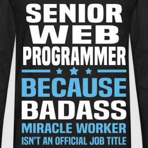 Senior Web Programmer Tshirt - Men's Premium Long Sleeve T-Shirt