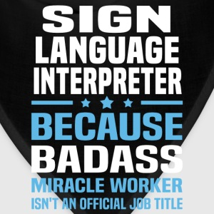 Sign Language Interpreter Tshirt - Bandana