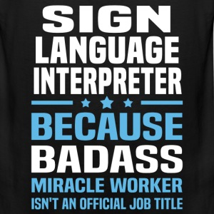 Sign Language Interpreter Tshirt - Men's Premium Tank