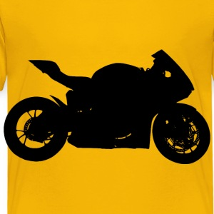 Red Motorcycle Silhouette - Toddler Premium T-Shirt
