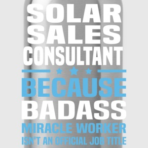 Solar Sales Consultant Tshirt - Water Bottle