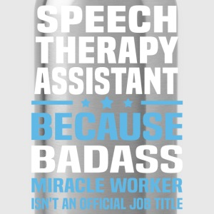 Speech Therapy Assistant Tshirt - Water Bottle