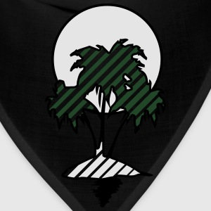 Island palms sun hatch T-Shirts - Bandana