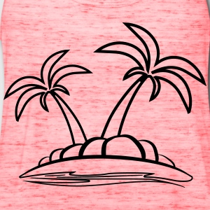 Island palms sea vacation T-Shirts - Women's Flowy Tank Top by Bella