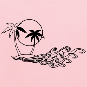 Island palm sea T-Shirts - Kids' Hoodie