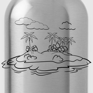 Island palm trees T-Shirts - Water Bottle