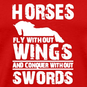 horses fly without wings Caps - Men's Premium T-Shirt