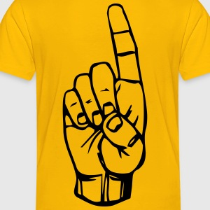 Sign language D, finger pointing - Toddler Premium T-Shirt