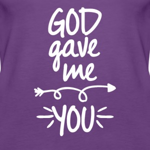 God gave me you (right arrow) - Women's Premium Tank Top